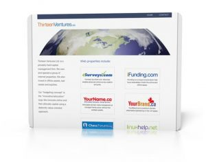 Thirteen Ventures Inc Website