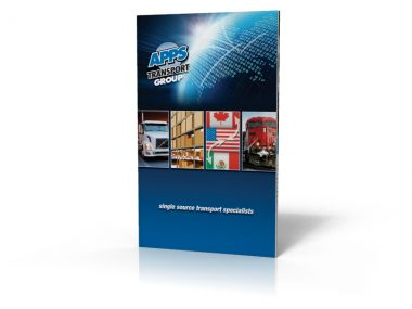 highly effect sales brochures for shipping company APPS Transport Group, custom design copywriting