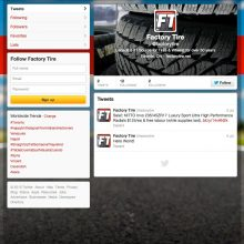 factory tire twitter page tire retail social media outreach marketing
