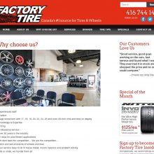 tire retail marketing, graphic design and web development - about page