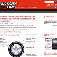 tire retail custom websites content marketing with social media outreach