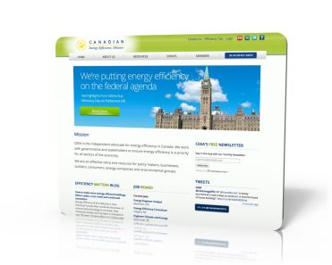 CEEA Front page - custom web development for industry associations